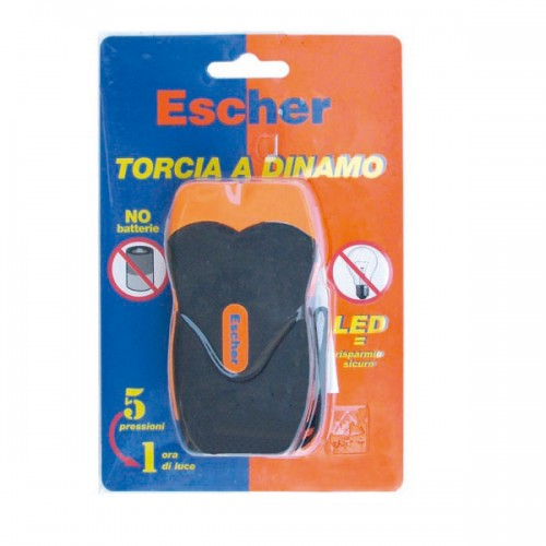 TORCIA A CARICA MANUALE 2LED ESCHER