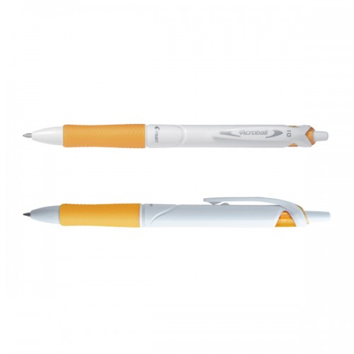 Penna a sfera scatto ACROBALL PURE WHITE Begreen 1,0mm arancio PILOT