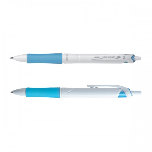 Penna a sfera scatto ACROBALL PURE WHITE Begreen 1,0mm azzurro PILOT